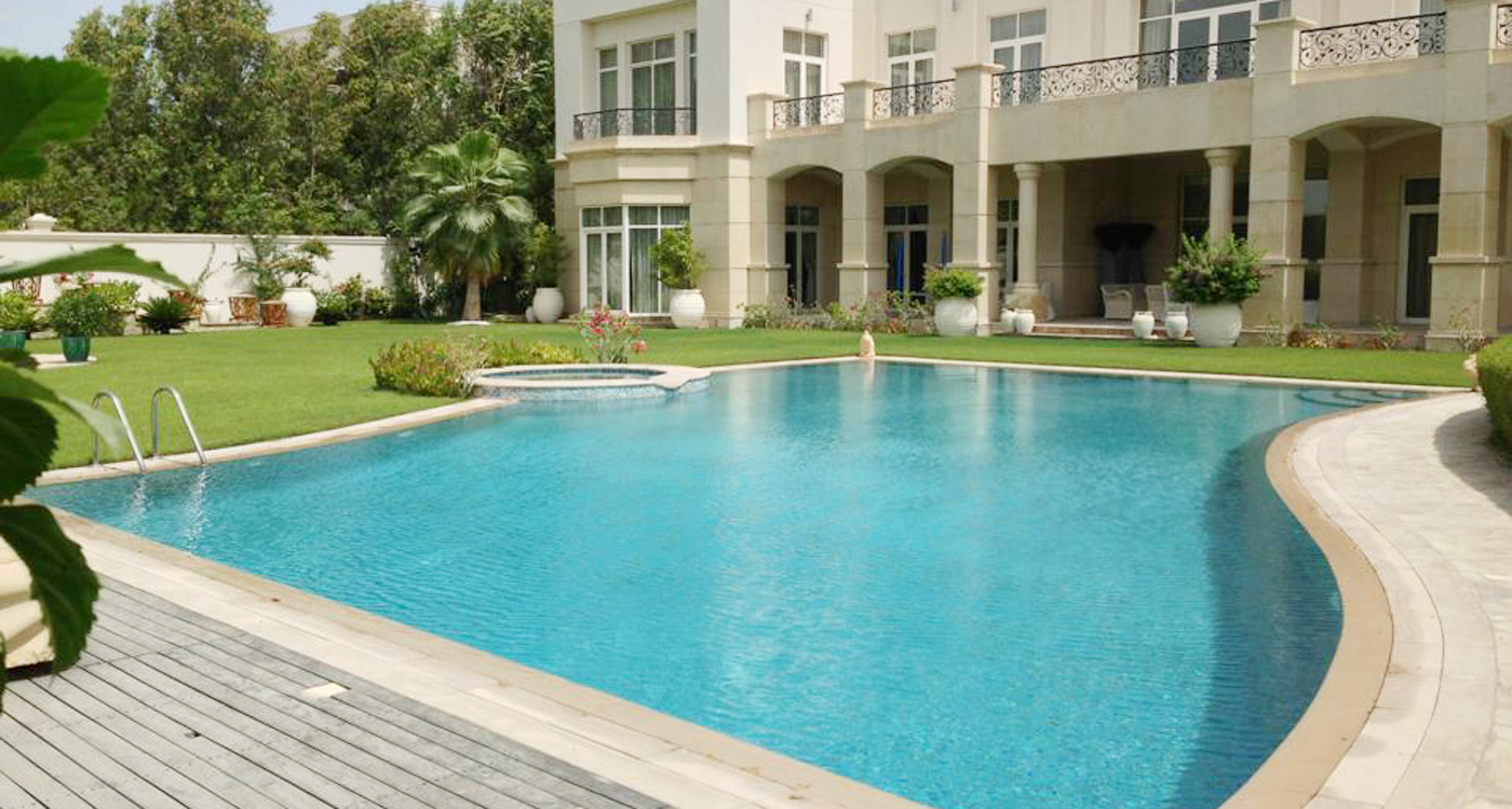 Castle pool maintenance dubai for Swimming pool suppliers in dubai